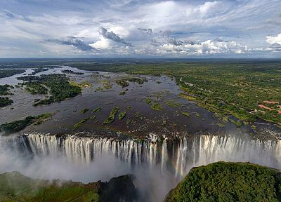 landscapes, waterfalls, Victoria Falls - random desktop wallpaper