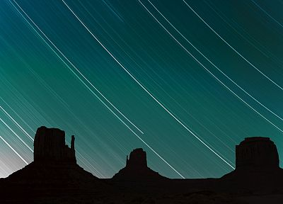 stars, Arizona, Utah, Monument Valley - desktop wallpaper