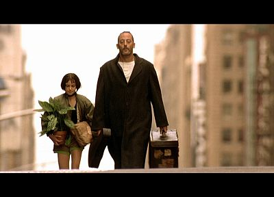 movies, actress, Natalie Portman, Leon The Professional, buildings, plants, Jean Reno, screenshots - related desktop wallpaper