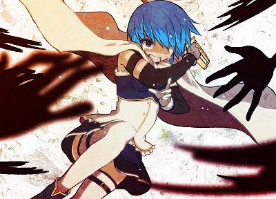 blue hair, Mahou Shoujo Madoka Magica, Miki Sayaka, anime, anime girls, swords - desktop wallpaper