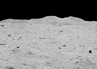 Moon, panorama, Apollo, Moon Landing, multiscreen - related desktop wallpaper