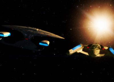 Star Trek, spaceships, vehicles, USS Enterprise - random desktop wallpaper