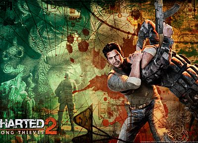 video games, Uncharted, Uncharted 2 - random desktop wallpaper