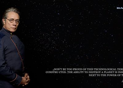 quotes, Battlestar Galactica, Edward James Olmos, Admiral William Adama - related desktop wallpaper