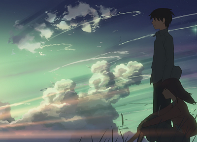 Makoto Shinkai, 5 Centimeters Per Second, artwork - random desktop wallpaper
