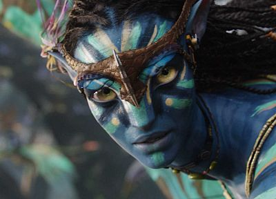movies, Avatar, Neytiri, animated, Zoe Saldana, James Cameron - related desktop wallpaper