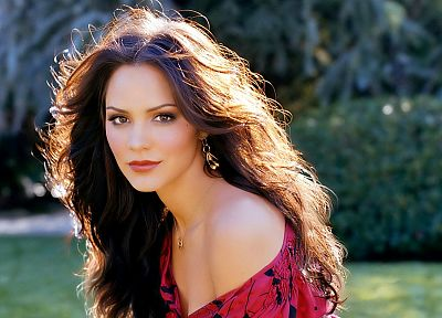 brunettes, women, actress, Katharine McPhee, singers, earrings, necklaces, faces - desktop wallpaper