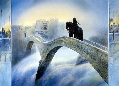 The Lord of the Rings, horsemen, John Howe - random desktop wallpaper