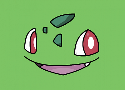 Pokemon, Bulbasaur, simple background - desktop wallpaper