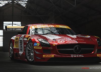 video games, cars, Xbox 360, Mercedes-Benz, Forza Motorsport 4, SLS AMG - random desktop wallpaper