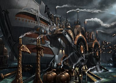 steampunk, ships, ark, vehicles - random desktop wallpaper