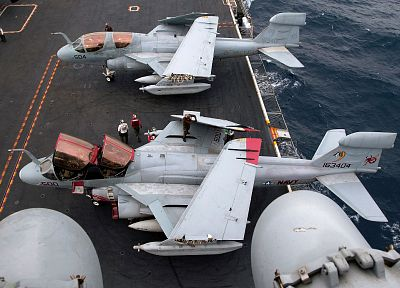 aircraft, military, navy, planes, vehicles, aircraft carriers, EA-6B Prowler, VAQ-132 Scorpions - related desktop wallpaper