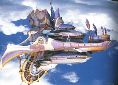 Final Fantasy, Final Fantasy X, airship - random desktop wallpaper