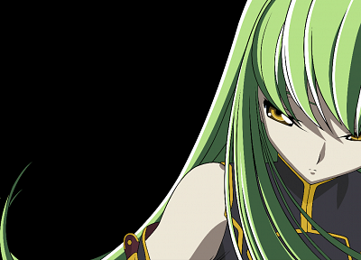 Code Geass, vectors, green hair, C.C., anime, golden eyes, anime girls - random desktop wallpaper