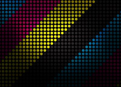 minimalistic, multicolor, dots, CMYK, halftone - related desktop wallpaper