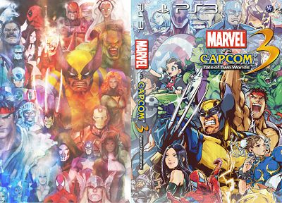 Hulk (comic character), Iron Man, Thor, Spider-Man, Captain America, Wolverine, Deadpool Wade Wilson, Ryu, Magneto, Marvel vs Capcom, Viewtiful Joe, Chun-Li, Crimson Viper, Chris Redfield, Albert Wesker, Haggar, X-23, MODOK, Tron Bonne, zero, Storm (comic - related desktop wallpaper