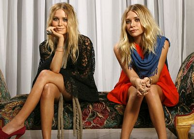 blondes, women, models, Olsen Twins, Mary Kate Olsen - desktop wallpaper