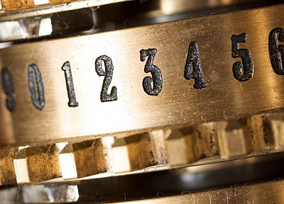 close-up, computers history, Marcin Wichary, Difference Engine - related desktop wallpaper