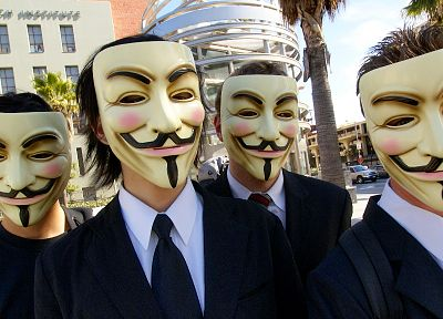 Anonymous, Guy Fawkes - desktop wallpaper
