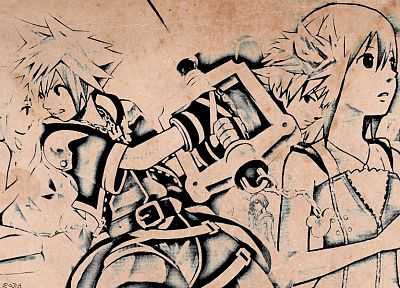 Kingdom Hearts, Sora (Kingdom Hearts) - random desktop wallpaper