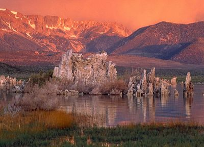 mountains, landscapes, nature, California, rock formations, Mono Lake - desktop wallpaper