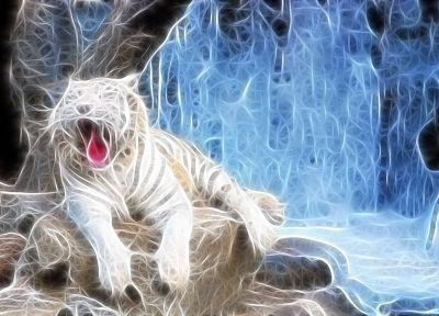 Fractalius, white tiger - related desktop wallpaper