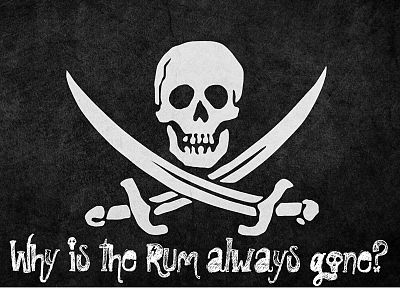 pirates, Jolly Roger, Rum - random desktop wallpaper