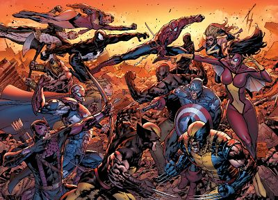 comics, Venom, Spider-Man, Wolverine, Avengers comics, Marvel Comics, Ms. Marvel, Dark Avengers, Ares - desktop wallpaper