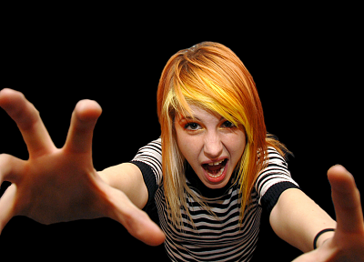 Hayley Williams, Paramore, women, celebrity, singers, black background - related desktop wallpaper