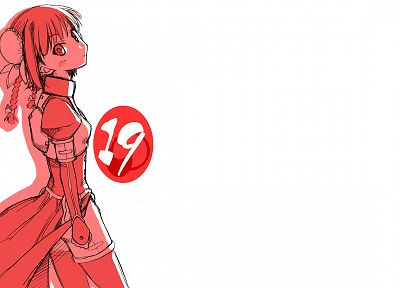 Mahou Sensei Negima, simple background, Lingshen Chao - desktop wallpaper