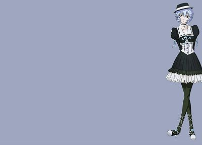 dress, Ayanami Rei, Neon Genesis Evangelion, simple background, anime girls - desktop wallpaper