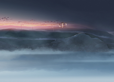 aircraft, Makoto Shinkai, vehicles, anime, The Place Promised in Our Early Days - random desktop wallpaper