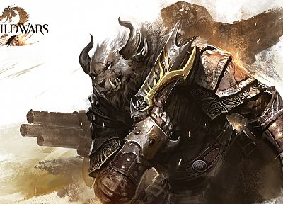 video games, artwork, MMORPG, Guild Wars 2 - desktop wallpaper
