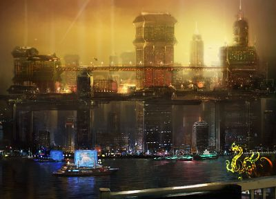 cityscapes, architecture, buildings, towns, Deus Ex: Human Revolution, games - random desktop wallpaper