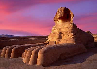 Egypt, sphinx, Giza, evening - random desktop wallpaper