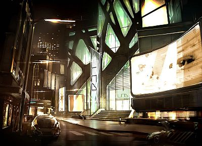 futuristic, futurist, digital art, Deus Ex: Human Revolution, Game Art - desktop wallpaper