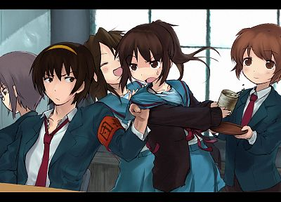 The Melancholy of Haruhi Suzumiya, alternative art, Kyonko, anime, genderswitch - random desktop wallpaper