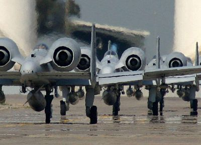 aircraft, military, taxi, planes, A-10 Thunderbolt II - random desktop wallpaper