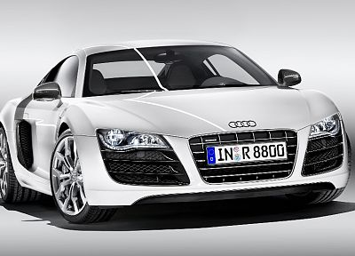 cars, Audi, vehicles, Audi R8, German cars, front angle view - related desktop wallpaper