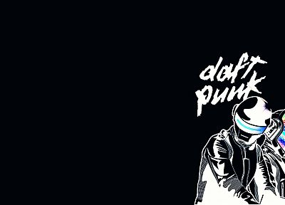 Daft Punk, black background - random desktop wallpaper
