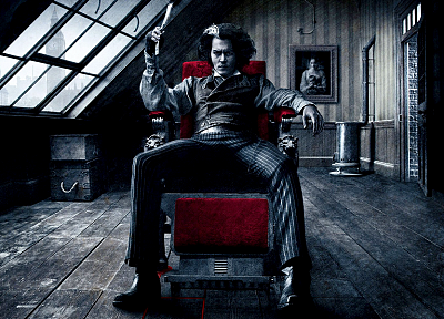razor, Sweeney Todd, Johnny Depp - random desktop wallpaper