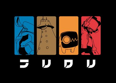 FLCL Fooly Cooly, Canti, simple background - desktop wallpaper