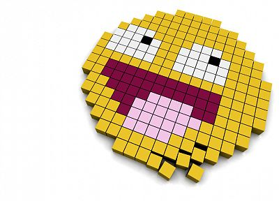 video games, smiley, 3D renders, Pac-Man, 3D - random desktop wallpaper