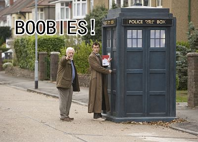 TARDIS, David Tennant, funny, Doctor Who, Tenth Doctor - desktop wallpaper