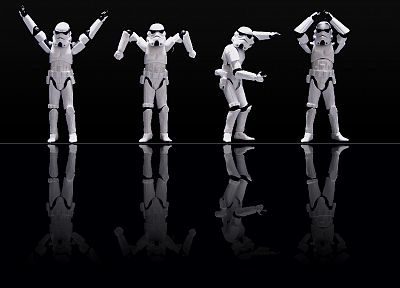 Star Wars, stormtroopers, black background - related desktop wallpaper