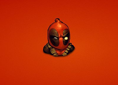 comics, Deadpool Wade Wilson, Marvel Comics, red background - desktop wallpaper