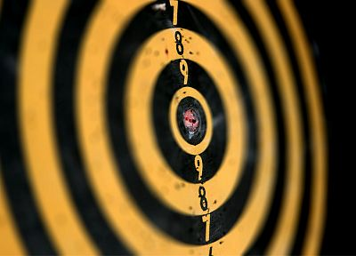 depth of field, darts, bullseye, dartboard - desktop wallpaper