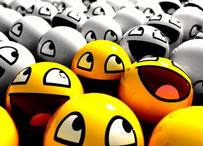 smiley, smiley face, selective coloring, Awesome Face - random desktop wallpaper