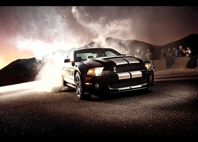 cars, smoke, vehicles, Ford Shelby, Ford Mustang Shelby GT500 - related desktop wallpaper