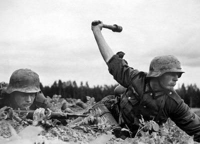 soldiers, Nazi, World War II, Wehrmacht, grenades - related desktop wallpaper